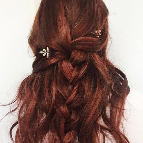 Boho Braid with Auburn Hair Color