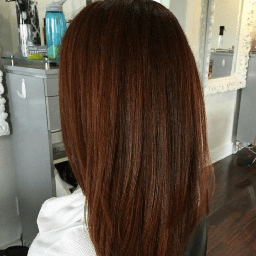 Chocolate and Subtle Auburn Hair Color