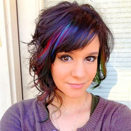 Colorful Asymmetrical Bob