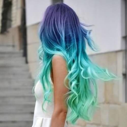 Cool Mermaid Hair Ombre