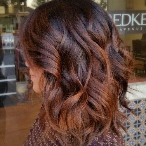 Dark Auburn Hair Color Balayage