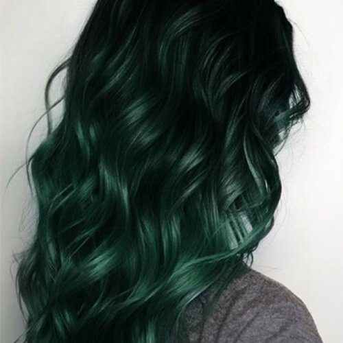 Dark Teal Mermaid Hair Ombre