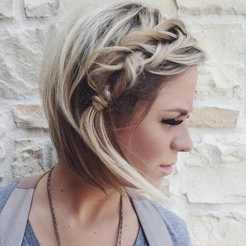 Fishtail Braid Bob