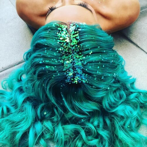 Glitter Mermaid Hair