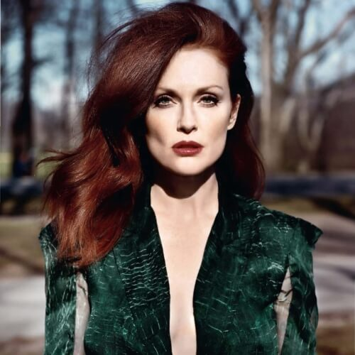 Intense Auburn Hair Color with Undertones
