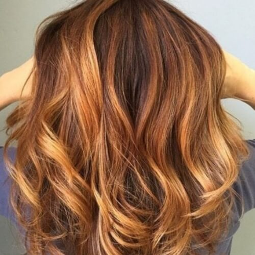 Light Auburn Hair Color Accents