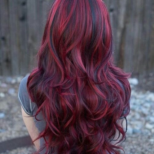 Naturally Red Hair With Highlights