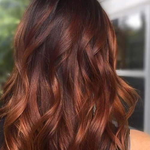 Lowlights on Auburn Hair Color