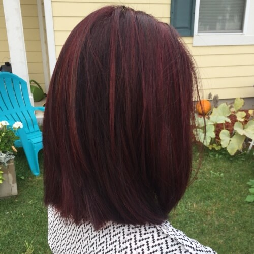 Mahogany Red Hair Color