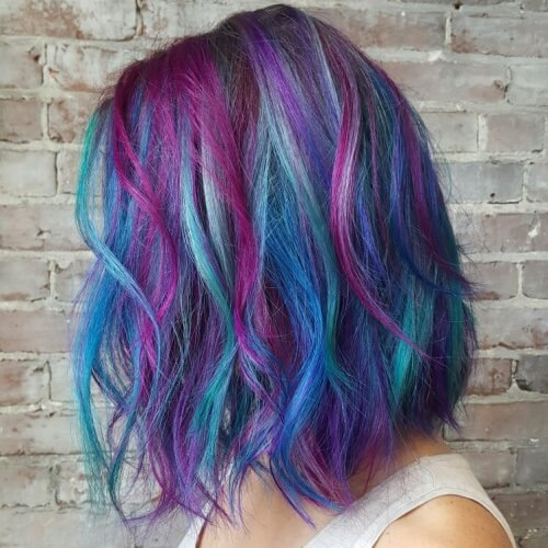Mermaid Hair with Long Bob Haircut
