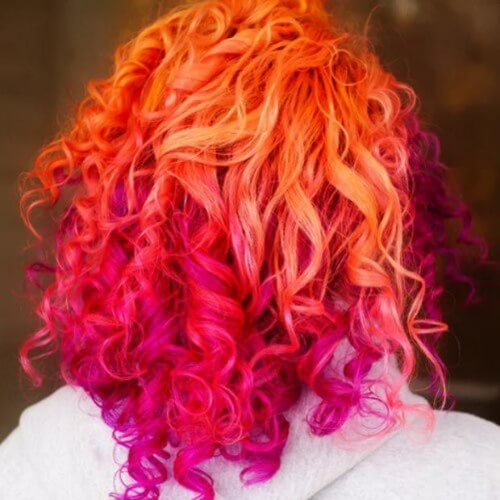 Orange and Magenta Curls