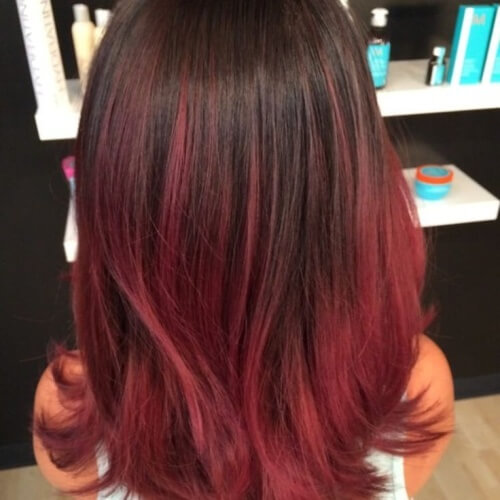 Pale Red Ombre Hair