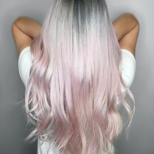 Platinum And Pastel Pink Hair Colors Ideas Of 22 Excellent