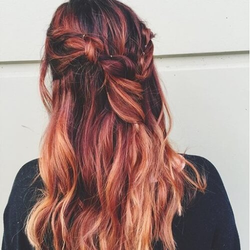 Red and Gold Boho Braid