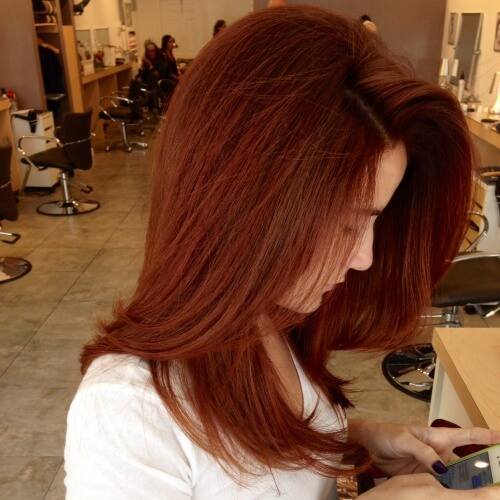 Rusty Auburn Hair Color