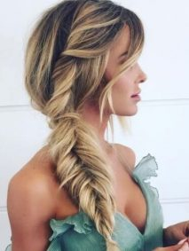 Side Braided Homecoming Hairstyles