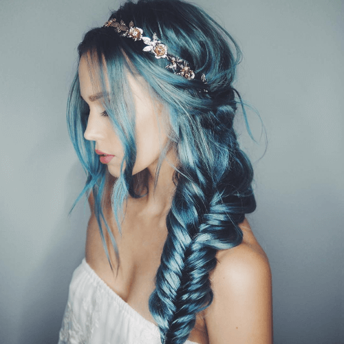 Side Swept Mermaid Hair