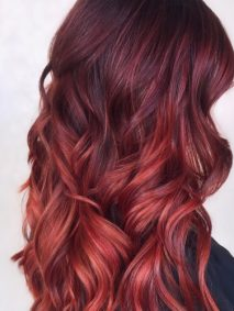 Subtle Red Ombre Hair