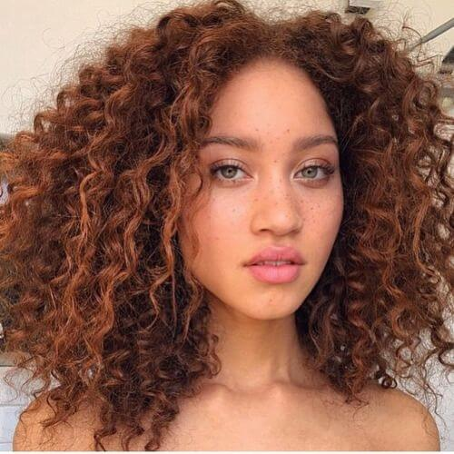 Super Curly Auburn Locks