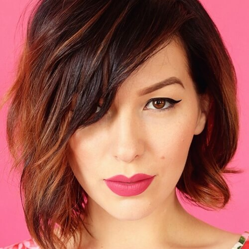 Thin Hair Asymmetrical Bob