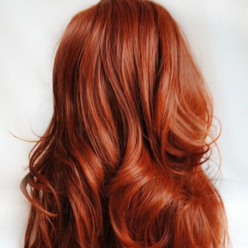 Warm Red Hair Color