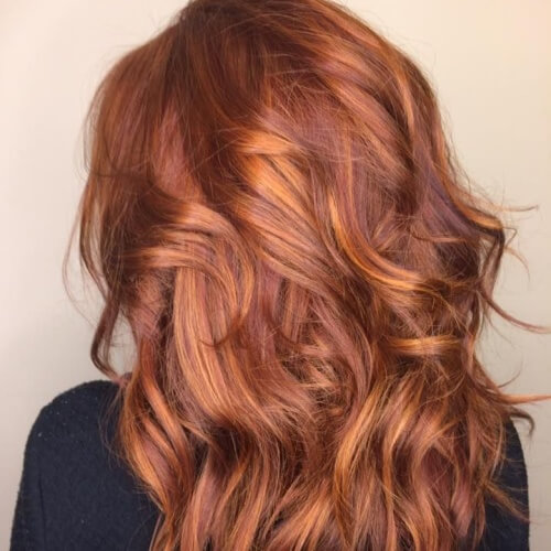 Warm Reddish Caramel Tones