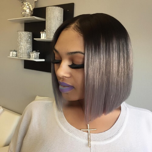 bob haircuts black hair 50 pretty sew in hairstyles for inspiration hair motive 1356 | Balayage Bobs