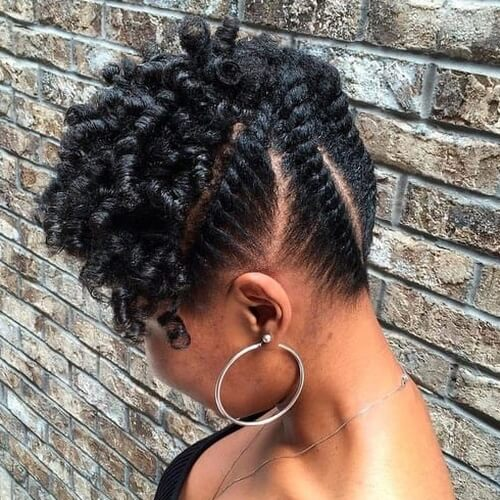 Black Updos for Short Hair