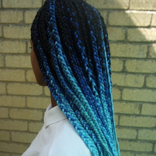 Blue Ombre Braids