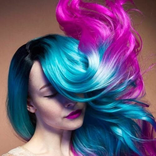 Blue and Magenta Ombre