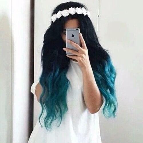 Boho Blue Hairstyle