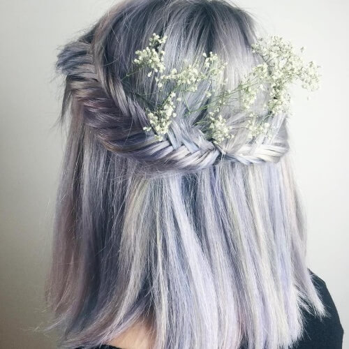 Boho Updos for Short Hair