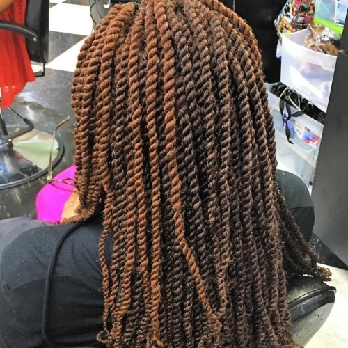 Brown Balayage Kinky Twists