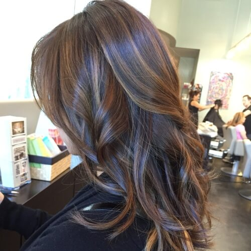 chocolate brown hair color with highlights brown hairs