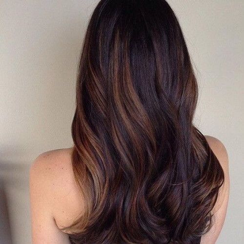Chocolate Highlights on Dark Brown Hair