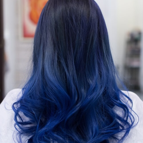 Dark Blue Ombre Hair