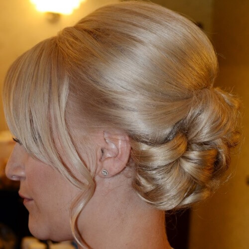 Formal Updo with Bangs