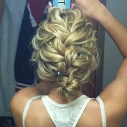 French Braided Updos for Short Hair