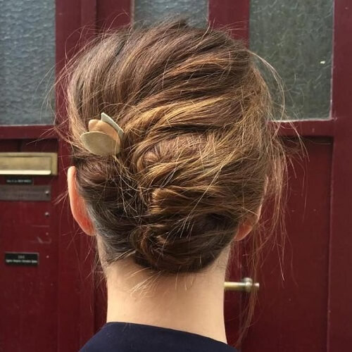 French Roll Updos for Short Hair