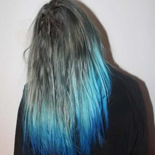 Gray and Blue Ombre