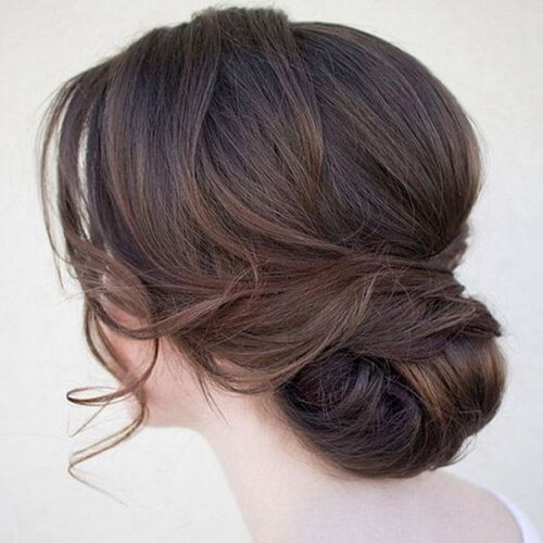 Hairstyle with Loose Strands