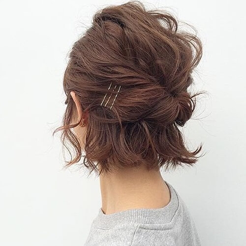 Half Up Twisted Updos for Short Hair