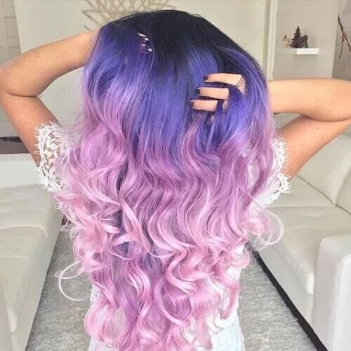 Indigo and Lavender Pink