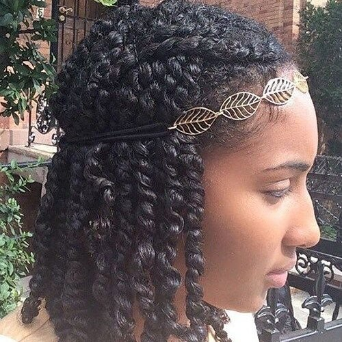 Kinky Twist Braids with Headband