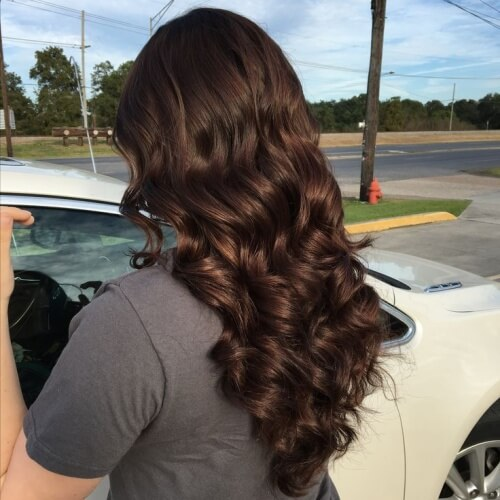 Medium Chocolate Brown Hair