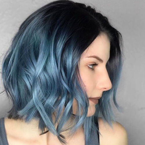 Metallic Blue Ombre