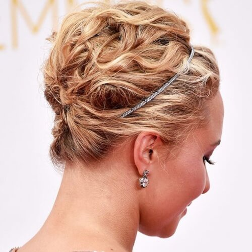 Pinned with Tiara Hairstyles