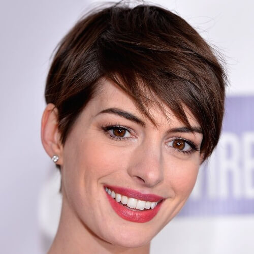 Pixie Cut with Chocolate Brown Color