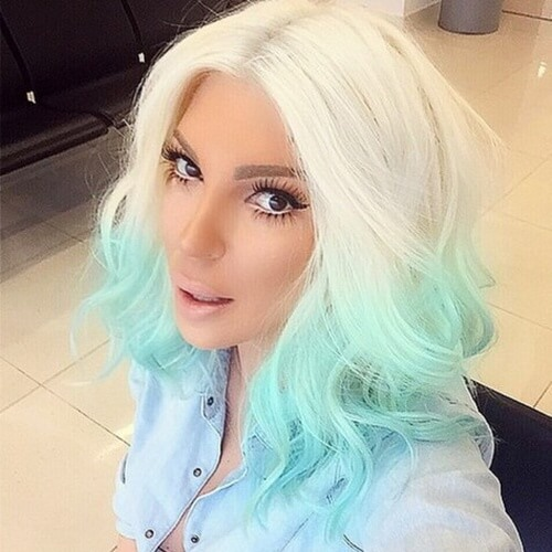 Platinum Blue Ombre Hair