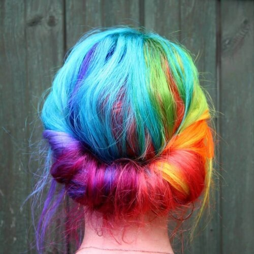 Rainbow Blue Ombre Hair